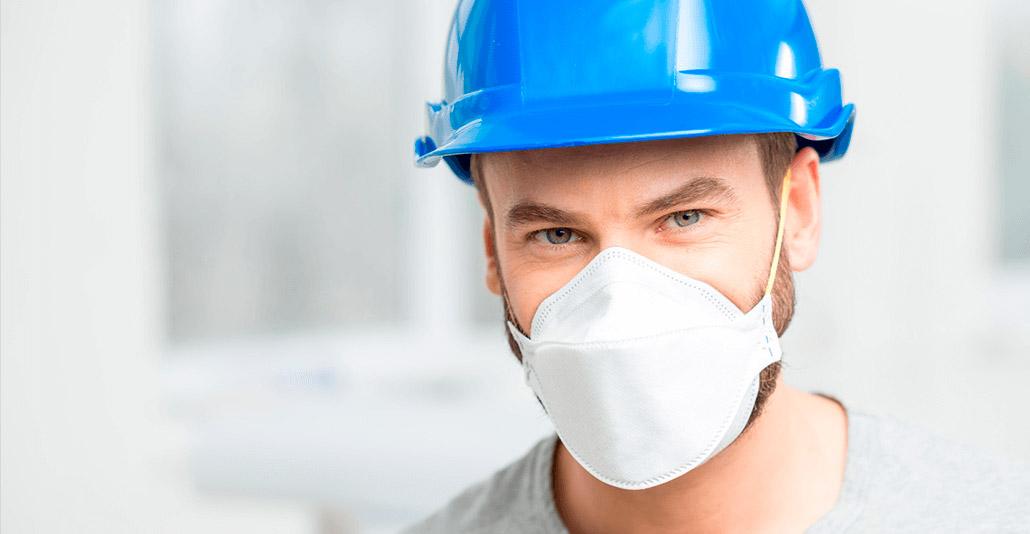 máscara para limpeza