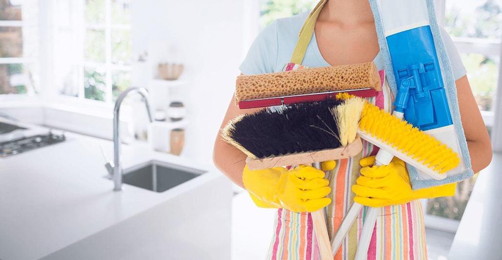 utensílios para limpeza
