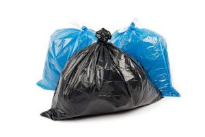 imagem de sacos de lixo para coleta seletiva