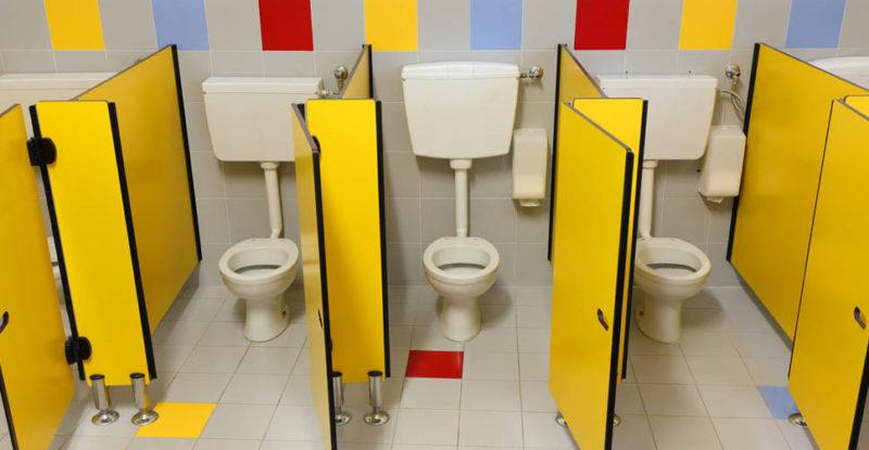 banheiro da escola