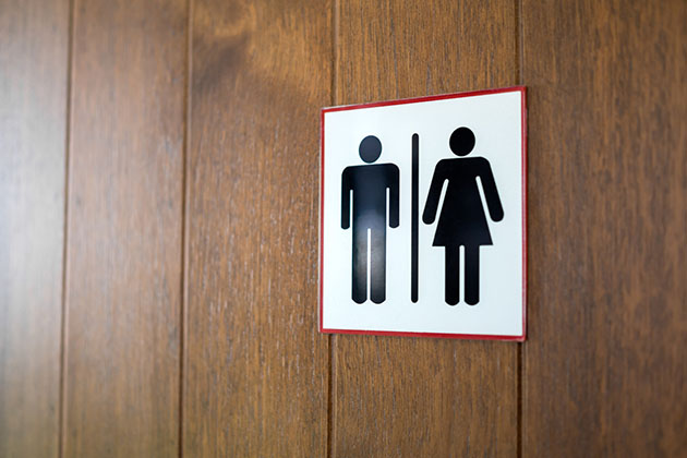 banheiro de restaurante feminino e masculino