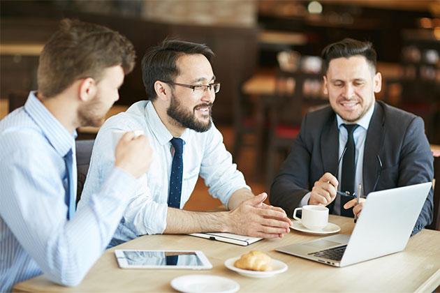 O café na empresa é uma atividade de interação da equipe.